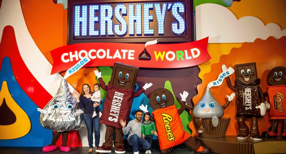 Family with Hershey Characters