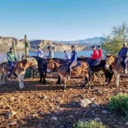 Saguaro Lake Guest Ranch horseback riding group