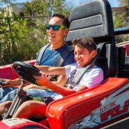 Visit Visalia boy & father riding go cart