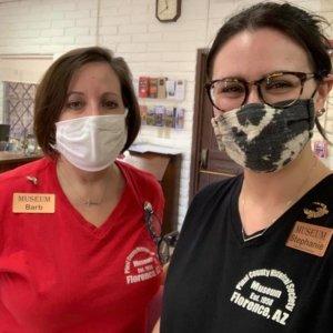 PCHS staff wearing masks